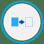 Aufnehmen und Platzieren Icon