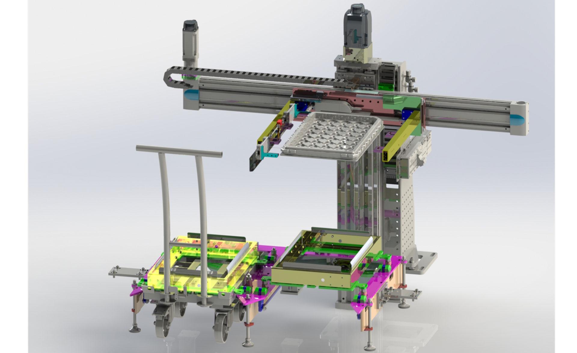 Umstapelmodul als 3D Zeichnung