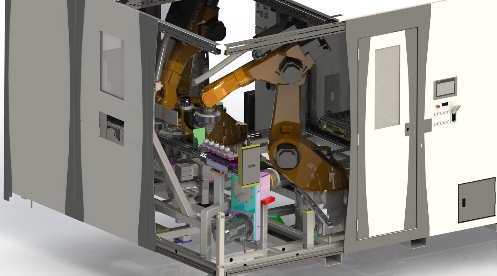 Entgraten und Fräsen in der Flex Robot Cell