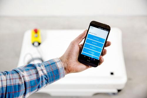 mir-fleet Programm am Smartphone