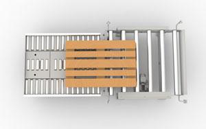 Pallet Mover und Gate Palettenübergabe