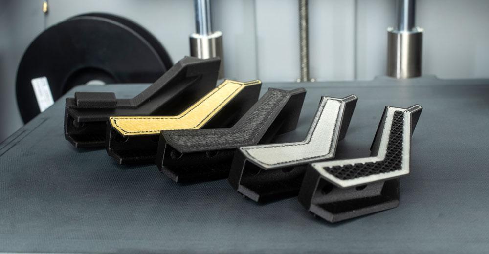 Greiferbacken aus dem 3D Drucker mit Verstärkungen aus Kevlar®, Kohlefaser, HSHT Glasfasern