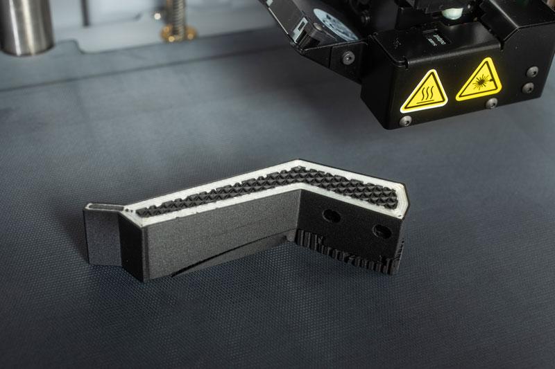 3D Druck Element - Greiferbacke - Onyx mit einer Verstärkung aus HSHT Glasfaser