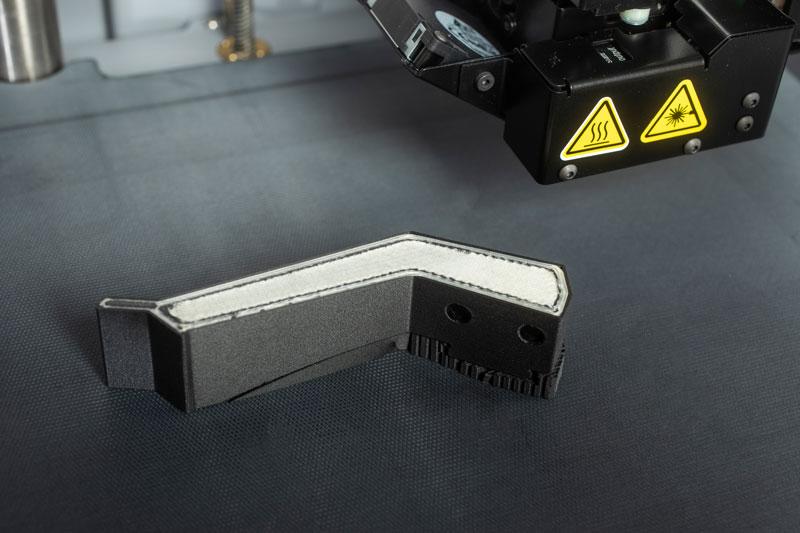 3D Druck Element - Greiferbacke - Onyx mit einer Verstärkung aus Glasfaser