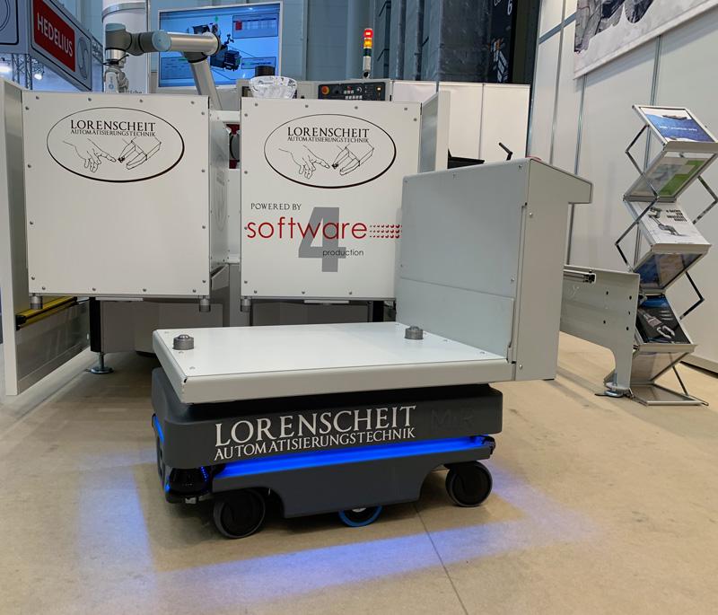 Lorenscheit Messestand mit Software 4 production