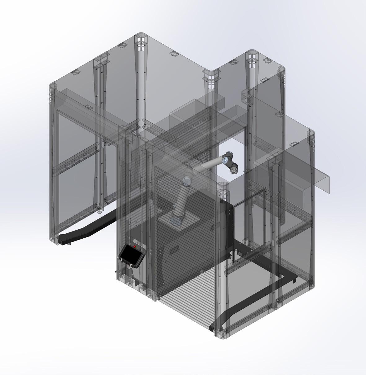 Schutzeinhausung für Flex Palletizer