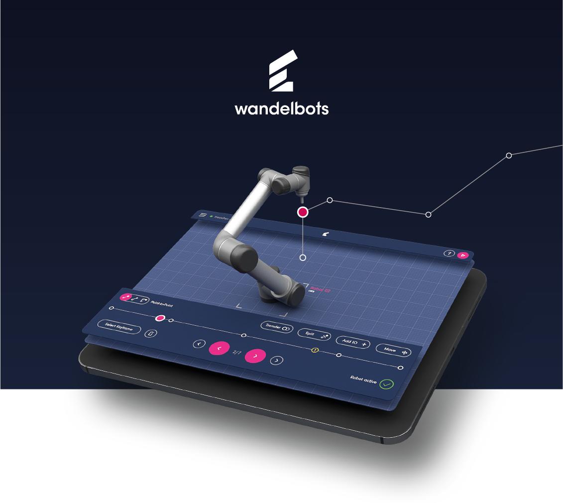 Wandelbots-Industrieroboter programmieren