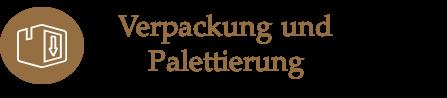 Icon Verpacken und Palettieren